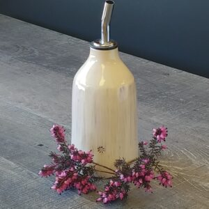Oil or Vinegar Cruet finished with a spigot for easy pouring