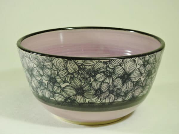 Floral pottery bowl for your salad