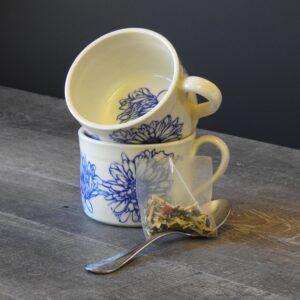 pottery tea cup