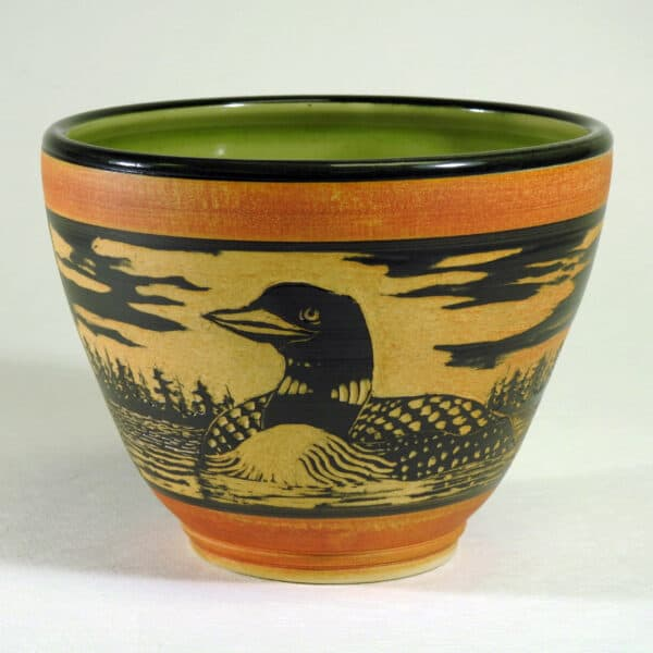 Pottery bowl for serving food