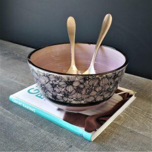 Light Purple Floral Bowl