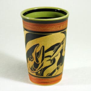stoneware pottery cup for hot or cold beverages