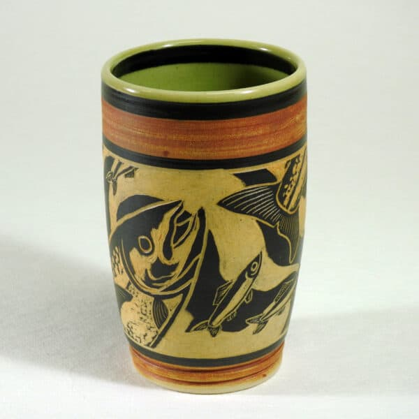 handmade pottery cup