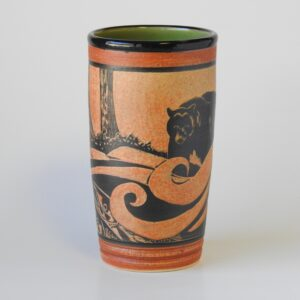 handmade pottery cup for cold or hot beverages