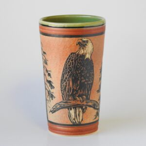 pottery cup for cold or hot beverages