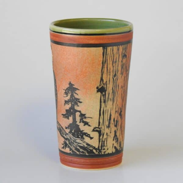 pottery cup for cold or hot beverage