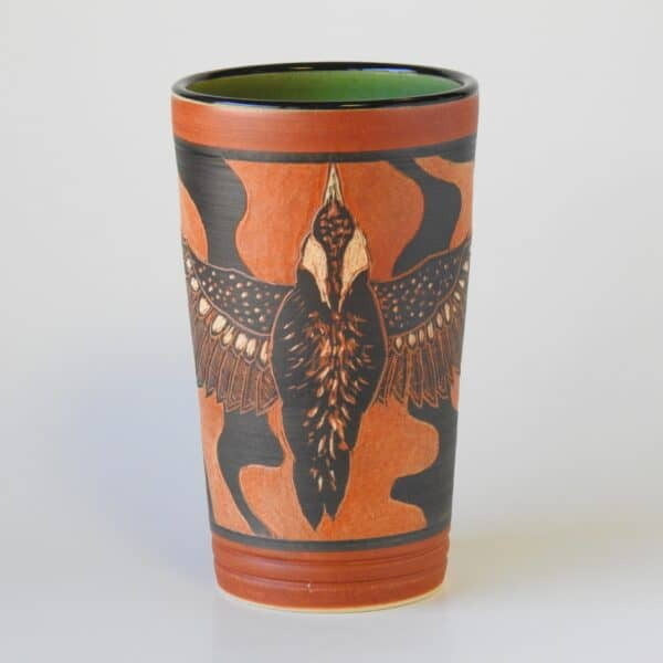 Handmade pottery cup for hot or cold beverages