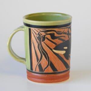 handmade pottery mug for hot beverage
