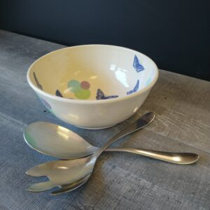 Butterfly Bowl for serving your favorite salad or munchie