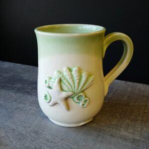 sea shell mug for your favorite hot beverage