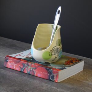 Spoon rest in gingko design for your counter of stove top