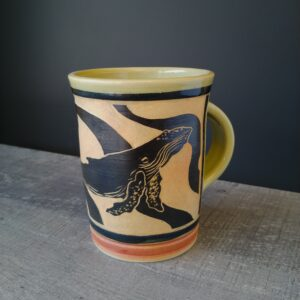 Humpback mug for coffee or teaa