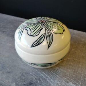 Lidded Jar for tea bags, sugar or butter