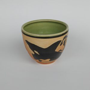 Orca design pottery bowl for your favorite hot or cold dish