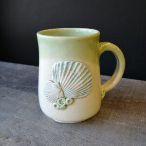 sea shell inspired mug for your coffee or tea