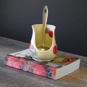 Spoon rest in purple and red for your kitchen counter or stove top