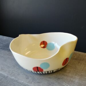 Wavy bowl for salad or other dish