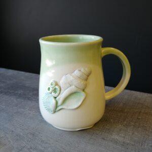 sea shell decorated mug